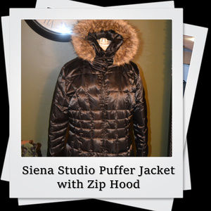 EUC | Siena Studio Puffer Jacket w/ Removable Hood
